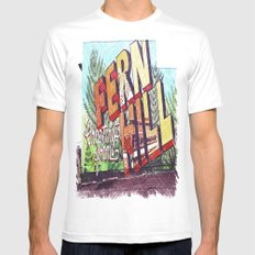 Greetings from Fern Hill MEDIUM White Mens Fitted Tee