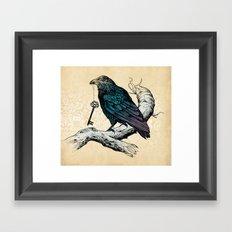 Raven's Key Framed Art Print