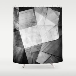 Black and White Cubism Shower Curtain