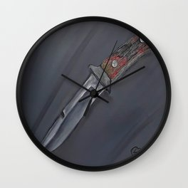 Knife, Oil painting by Luna Smith, Luart Gallery, still life Wall Clock