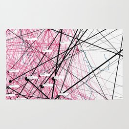 »Where« – Data visualization of a social network Rug