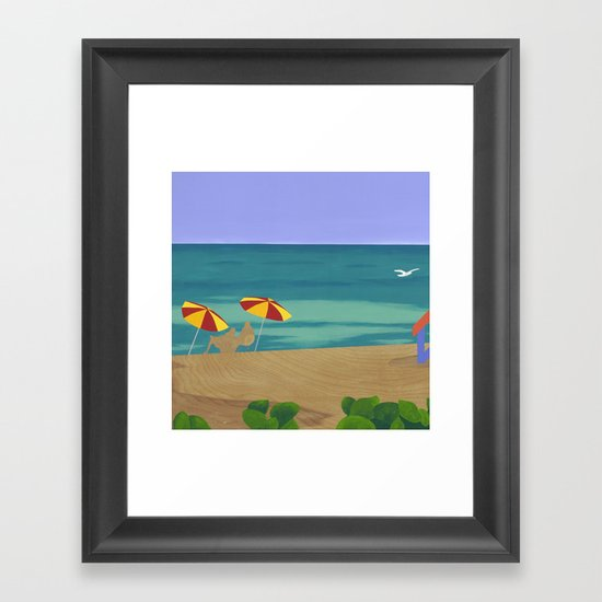South Beach Pillow 2 Framed Art Print