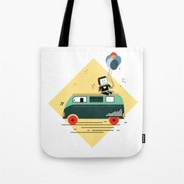 Retro Hippie Van Tote Bag
