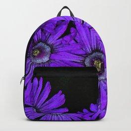 Purple succulent flowers watercolor effect Backpack