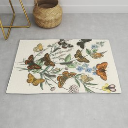 Illustrations from the book European Butterflies and Moths by William Forsell Kirby (1882) Rug