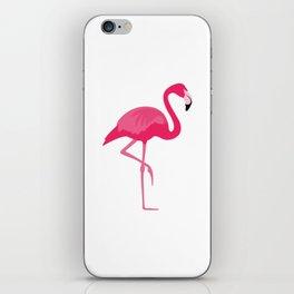 Flamingo time iPhone Skin