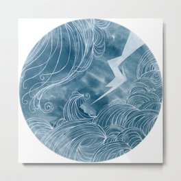 The wave in a bubble Metal Print