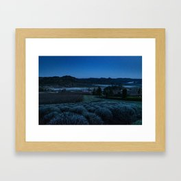 Through the Mountains and Valleys Framed Art Print