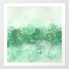 Choppy Turquoise Ocean Water Art Print