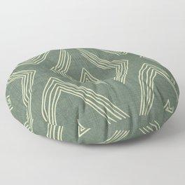 Birch in Green Floor Pillow