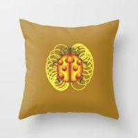 jojo Throw Pillows featuring GOLD EXPERIENCE - PRINCE - JOJO -  by Mirco Greselin
