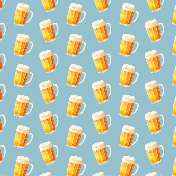 Ice Cold Beer Pattern Duvet Cover