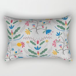 Kurbits – Blue Bell – Scandinavian Folk Art Rectangular Pillow