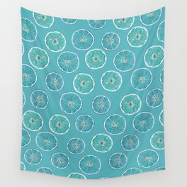 Turquois Oranges Pattern Wall Tapestry