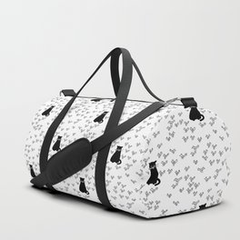 Cat and Birds with Attitude Duffle Bag