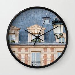 Place des Vosges in Paris France Wall Clock