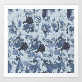 Blue jeans pattern. Art Print