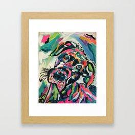 Day Brightening Dog Framed Art Print