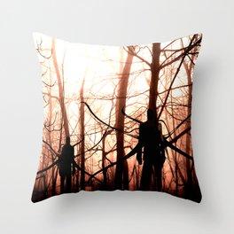 Slender Woods Throw Pillow