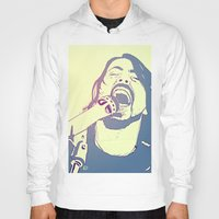 dave grohl Hoodies featuring Dave Grohl by Giuseppe Cristiano