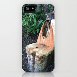 Kubota Garden - carved wood chair iPhone Case