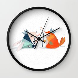 Bunny and Bird Kings of the Forest Wall Clock