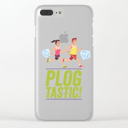 PLOGGING - PLOGTASTIC! 'PICK AND JOG' POLLUTION-BUSTING ECO-FRIENDLY PASTIME FROM SCANDINAVIA Clear iPhone Case