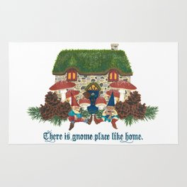 Gnome Place Like Home Rug
