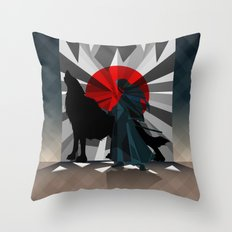 Spirit trapped in mirrors  Throw Pillow