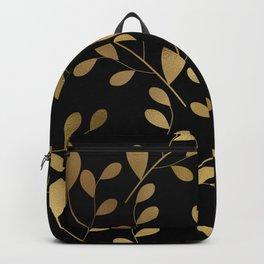 Art Deco-Inspired Gold Leaves on Gold Vines Backpack