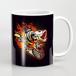 Fish skeleton flame Coffee Mug