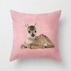 Small fawn Throw Pillow