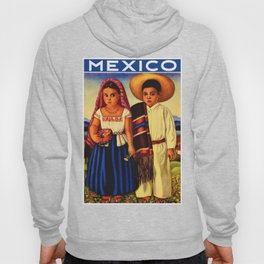 Vintage Mexico Travel Poster - Children Hoody