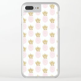 Elegant faux gold pineapple pattern Clear iPhone Case