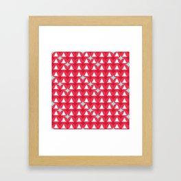 Christmas pattern red Framed Art Print