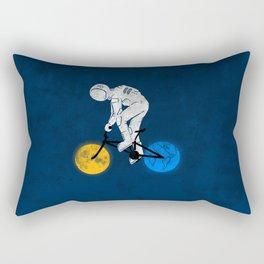 Astronaut on bicycle Rectangular Pillow