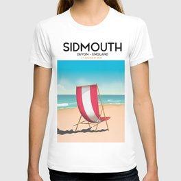 Sidmouth, devon, vintage travel poster T-shirt