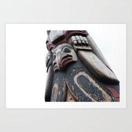Totem pole Seattle Art Print