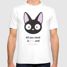 All you need is love and meow! White Mens Fitted Tee SMALL