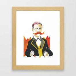 Friedrich Nietzsche Framed Art Print