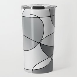 ABSTRACT CURVES #1 (Grays & White) Travel Mug