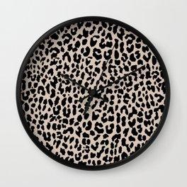 Tan Leopard Wall Clock
