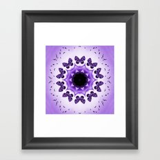 All things with wings (purple) Framed Art Print
