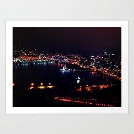 Steel City Lights Art Print
