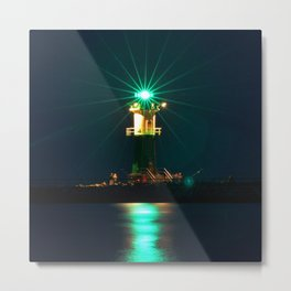 GREEN LIGHTHOUSE on the BALTIC Metal Print