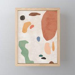 Organic Terracotta Thin Shapes  Framed Mini Art Print