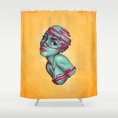 Fraught with draught Shower Curtain