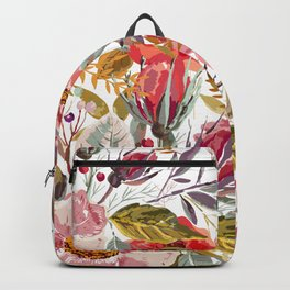 Vintage Floral Collage Backpack