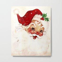 Vintage Santa 4 Metal Print