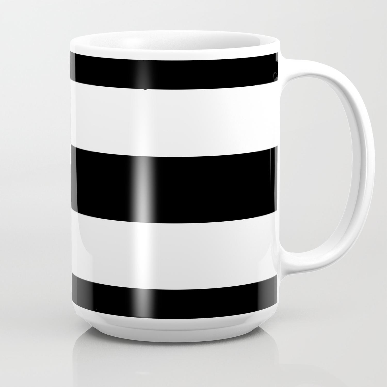 Coffee White Blackamp; Stripes Mug Xl TFKluJ3c1